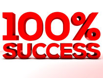 Success 100 percent red Stock Photo