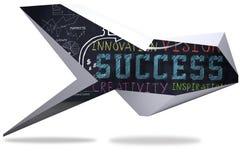 Success plan on abstract screen Stock Photos