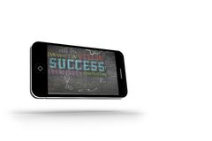 Success plan on smartphone screen Stock Photo