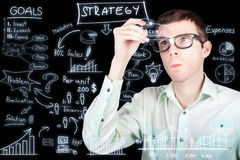 Success in planning a smart business strategy Stock Photos