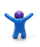 Success Plasticine Man 3D Figure Stock Image