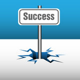 Success plate Stock Photo