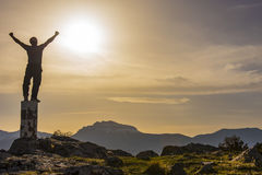 Success & power & mountaineering Stock Images