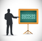 Success presentation concept illustration design Royalty Free Stock Images
