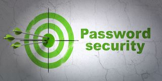 Privacy concept: target and Password Security on wall background Royalty Free Stock Photo