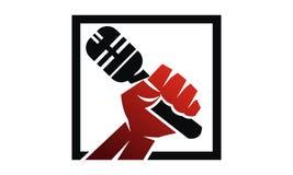 Success Public Speaking. Logo Design Template Vector Stock Photography