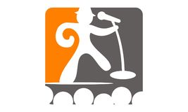 Success Public Speaking. Logo Design Template Vector Royalty Free Stock Image
