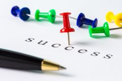 Success push pin Royalty Free Stock Photography