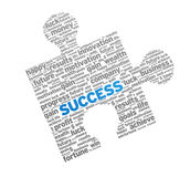 Success Puzzle. Red Success Puzzle on white background Royalty Free Stock Images