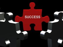 Success Puzzle piece Royalty Free Stock Photography