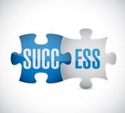 Success puzzle pieces illustration Stock Images