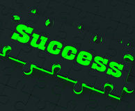 Success Puzzle Showing Successful Strategies Royalty Free Stock Photo