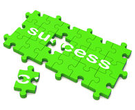 Success Puzzle Shows Attainment Of Wealth Stock Photography