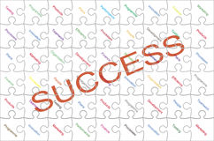 Success puzzles Royalty Free Stock Photos