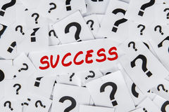 Success and question mark Stock Photography