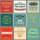 Success quotes colored set Royalty Free Stock Images