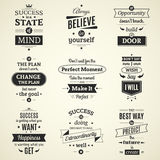 Success Quotes Typographical Posters Stock Photos