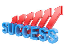Success and red arrows Royalty Free Stock Photo