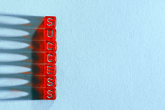 Success red and  blue Royalty Free Stock Photo