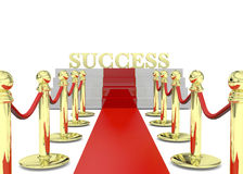 Success on Red Carpet - 3D Royalty Free Stock Photography