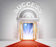 Success red Carpet Door Stock Image