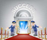 Success Red Carpet Entrance Stock Images