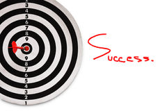 Success and red dart on target Stock Images