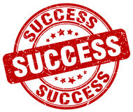 Success red grunge stamp Royalty Free Stock Photos