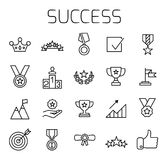 Success related vector icon set. vector illustration