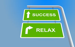 Success and relax Royalty Free Stock Image