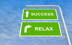 Success and relax Royalty Free Stock Photos