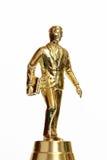 Success reward. Golden business man Royalty Free Stock Image