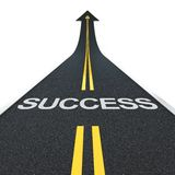 Success road Royalty Free Stock Image