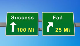Success Road Stock Photo