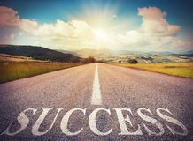 Success road royalty free stock photography