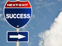 Success road sign royalty free illustration