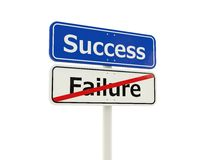 Success road sign Stock Image