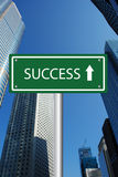 Success road sign Royalty Free Stock Image
