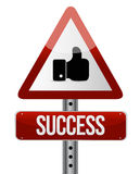 Success road sign illustration design Stock Photography