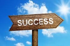Success Road Sign Royalty Free Stock Images