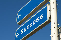 Success Roadsign Stock Images