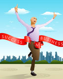 Success running businessman Royalty Free Stock Image