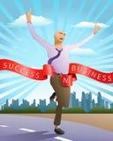Success running businessman Stock Photography