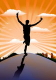 Success running-man Stock Images