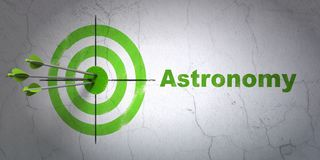 Science concept: target and Astronomy on wall background vector illustration