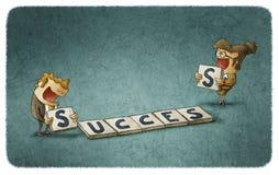 Success scrabble Stock Photos