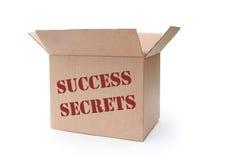 Success secrets. Box full of 'secrets' of success Royalty Free Stock Images