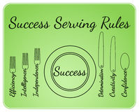 Success serving tools Stock Photo