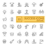 Success set of line icons. Simple pictograms pack. vector illustration on white background. outline style icons. Collection. Eps 10 Stock Photography