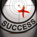 Success Shows Best Financial Achievement Solution Stock Images